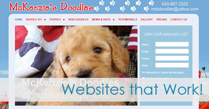 dog breeder websites that work